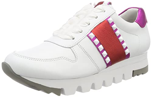 Lion, Zapatillas para Mujer, Blanco (Bianco/Fuxia/Campari Sohle Weiß 432), 35.5 EU Kennel & Schmenger