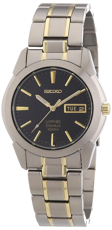 Seiko Reloj Analógico de Cuarzo para Hombre con Correa de Titanio – SGG735P1