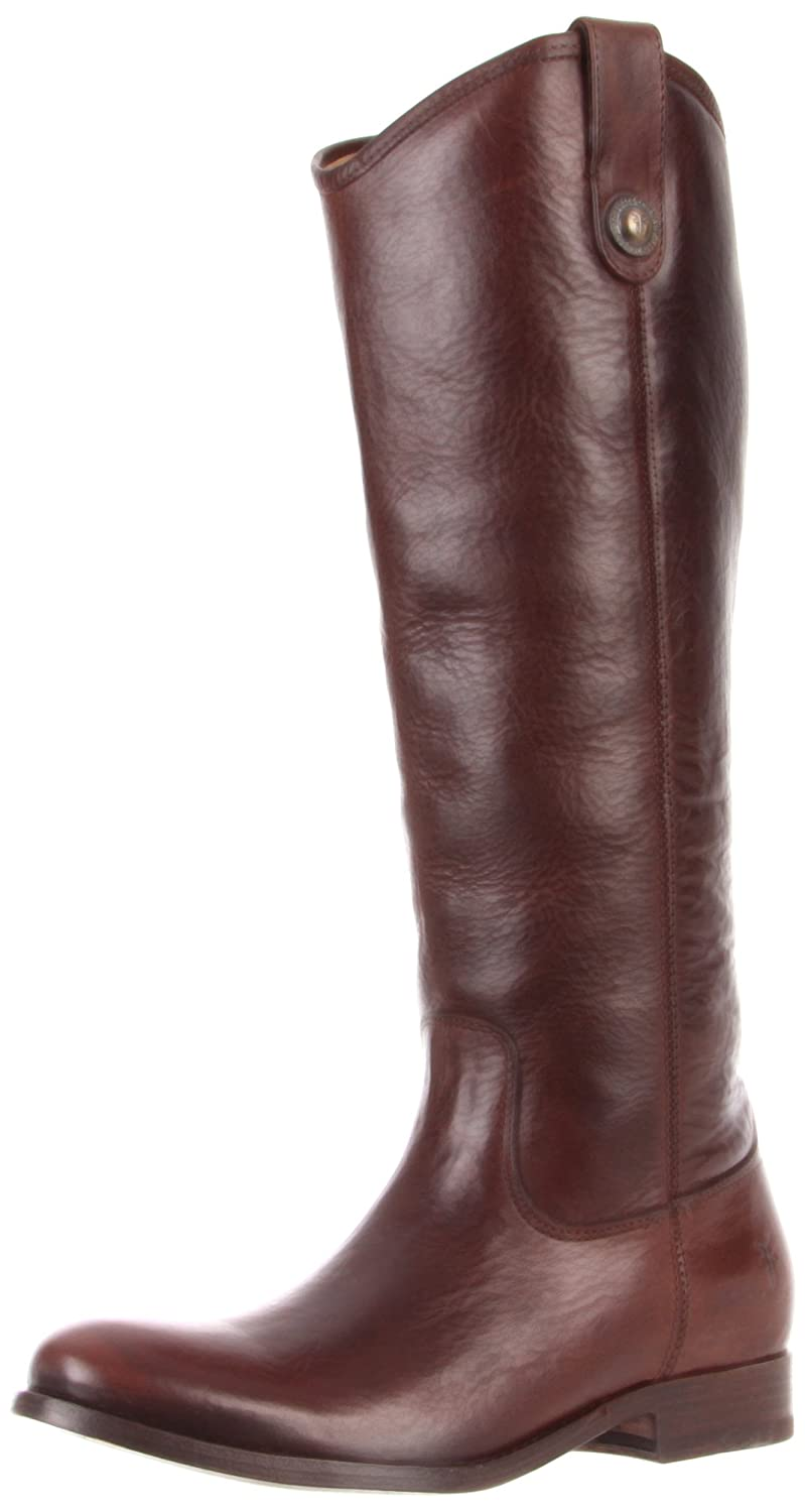Dark Brown Soft Vintage Leather Frye Women's Melissa Button Boot