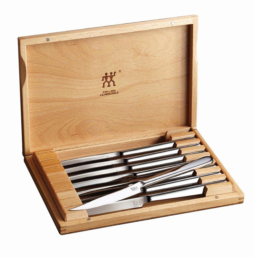 ZWILLING J.A. Henckels Zwilling Accessories Steak Knife Set, 2.3, Stainless Steel
