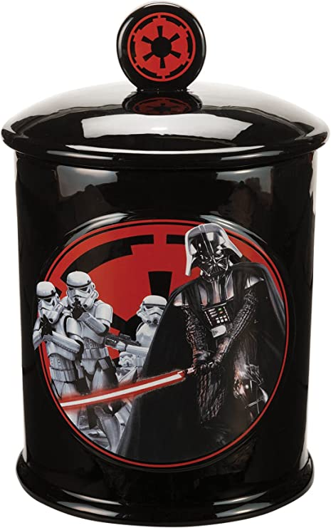 Galletero cer/ámica Star Wars Darth Vader dise/ño Star Wars Darth Vader y compa/ñ/ía Galletero con tapa Zeon M13368