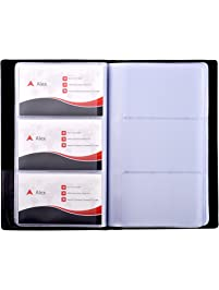 Business card holders amazon office school supplies desk maxgear business card book holder journal business card organizer professional pu leather name card reheart Images