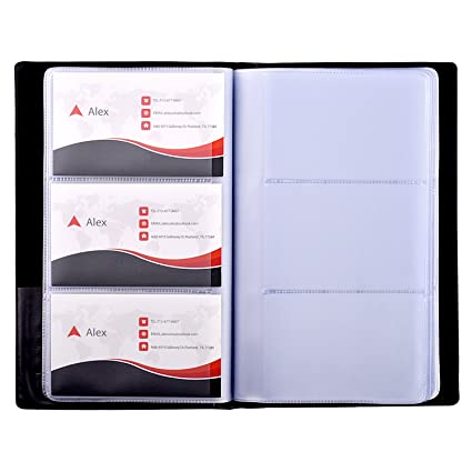 Amazon Com Maxgear Business Card Book Holder Journal Business