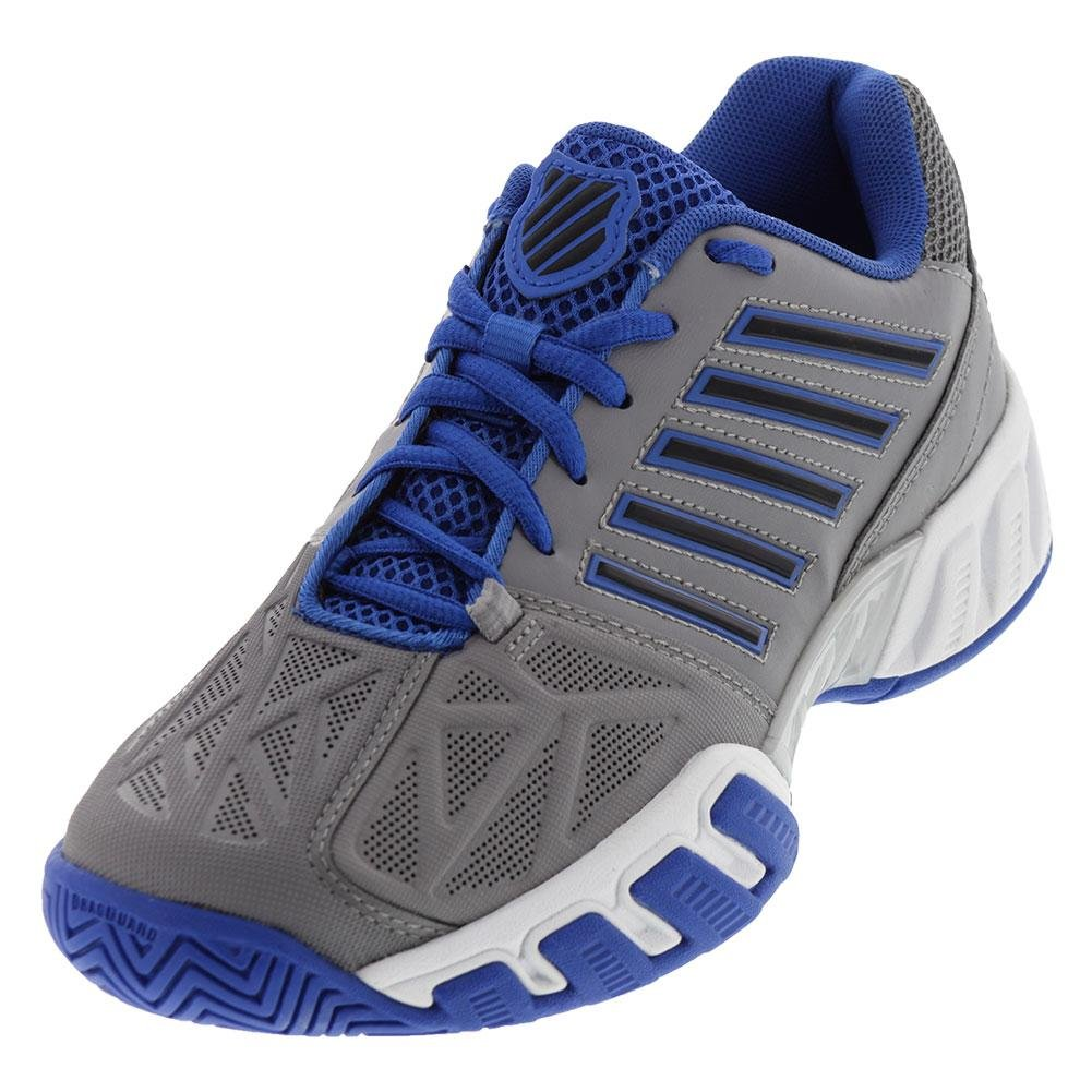 VLASTNOSTI  Juniori Bigshot Light 3 Tenisové boty Titanium a silná modrá  velikost - (6)       Barva - (Titan a Silná modrá) Schváleno K-švýcarský  obchodník. 287dbc2473