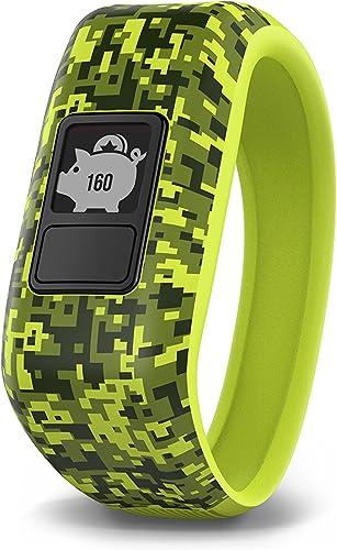 Garmin v vofit jr, Kids Fitness Activity Tracker, 1year Battery Life, Green, Digi Camo