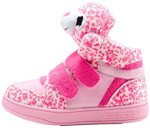 c43be0b0fb7e iDuoDuo Toddlers Little Girls Pink Leopard Running Shoes Cold Weather Snow  Sneakers Pink 7 M US