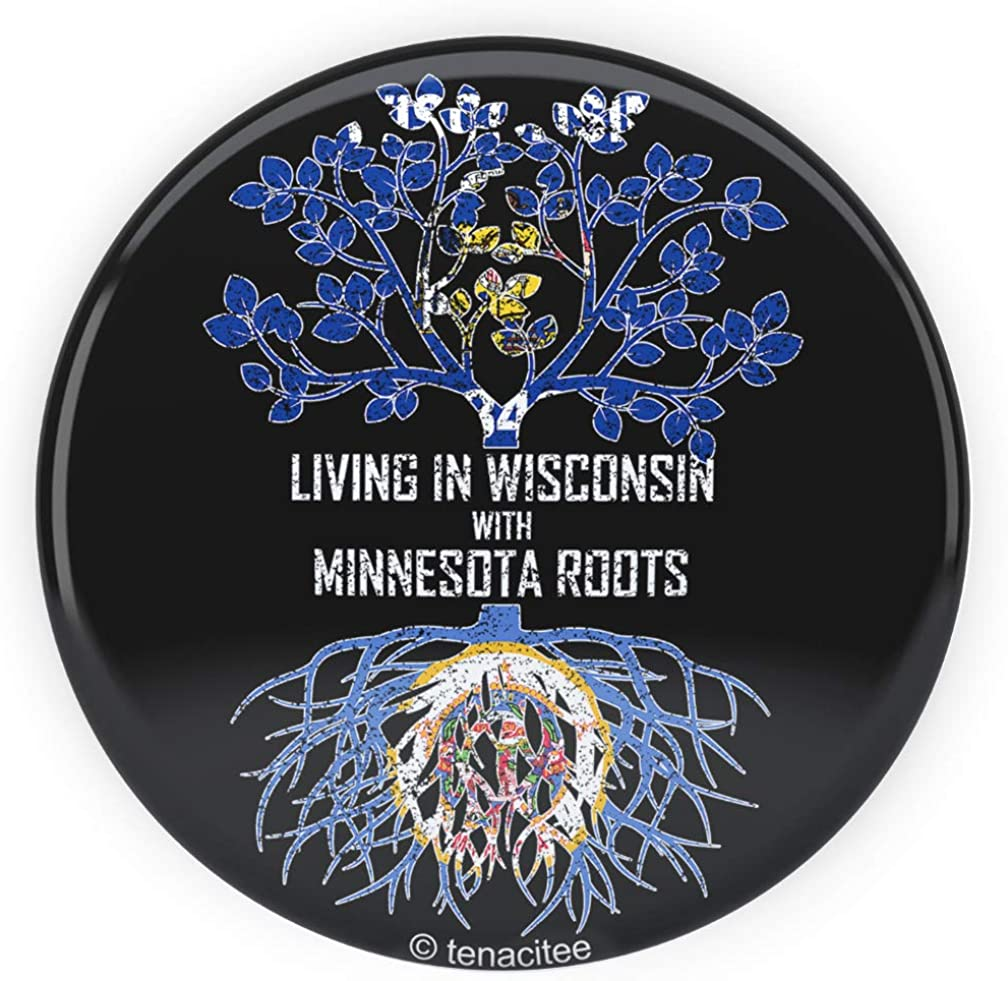 Tenacitee Babys Living in Wisconsin with Minnesota Roots Shirt