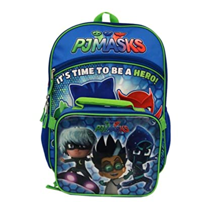 PJ Masks It's Time to Be A Hero Backpack with Lunchbox