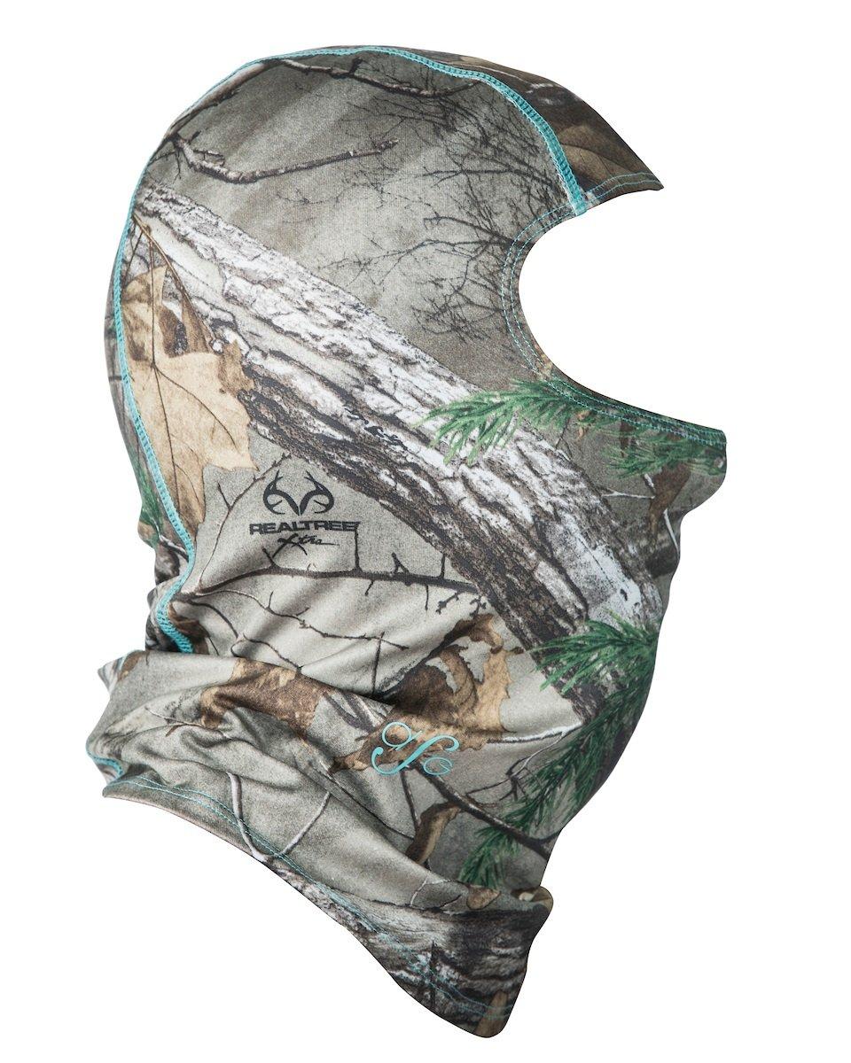 DSG Outerwear Facemask, Realtree Xtra Camo Aqua, One Size Camo Facemask