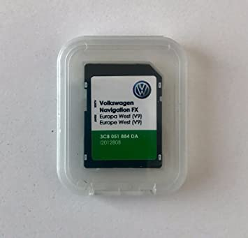 LATEST VW RNS 310 FX NAVIGATION SD CARD V9 WEST EUROPA 2017/18