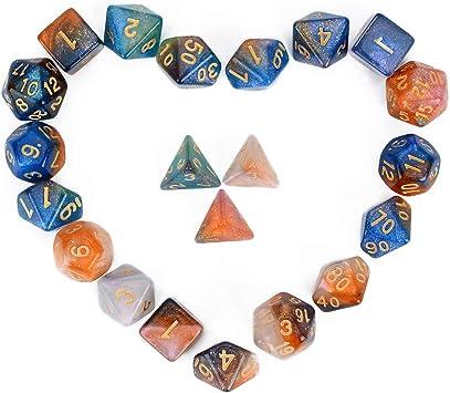 FLASHOWL Juego de rol Juego de Mesa Juego de Dados Juego Multicolor (21 Piezas): Amazon.es: Juguetes y juegos