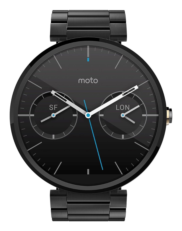 Moto Motorola 360 - Cuero Negro Reloj Inteligente: Amazon.es ...