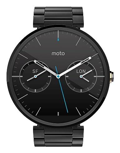Amazon.com: Motorola Moto 360 Reloj inteligente de cuero ...