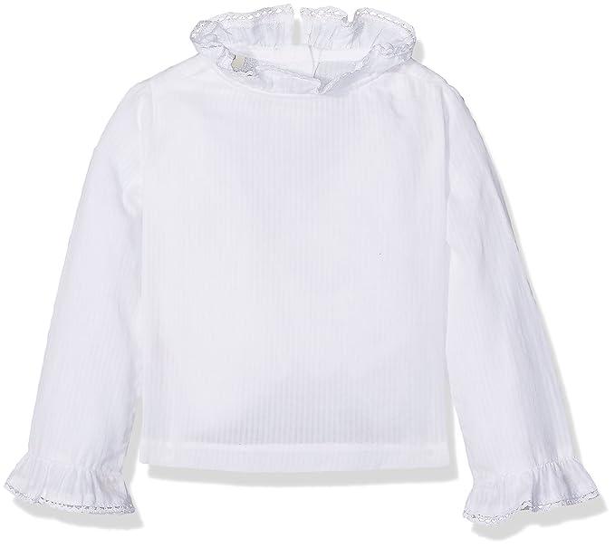 Gocco Camisa Volantes Blanca, Blusa para Bebés, 12-19 Meses