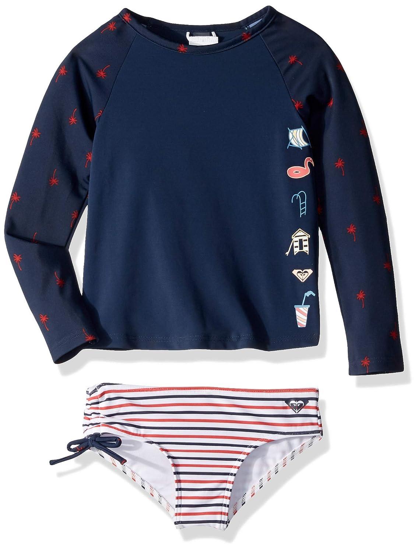 7a6965ea6ffa1 Amazon.com: Roxy Little Girls' Chasing Love Teenie Long Sleeve Lycra Swim  Set: Clothing