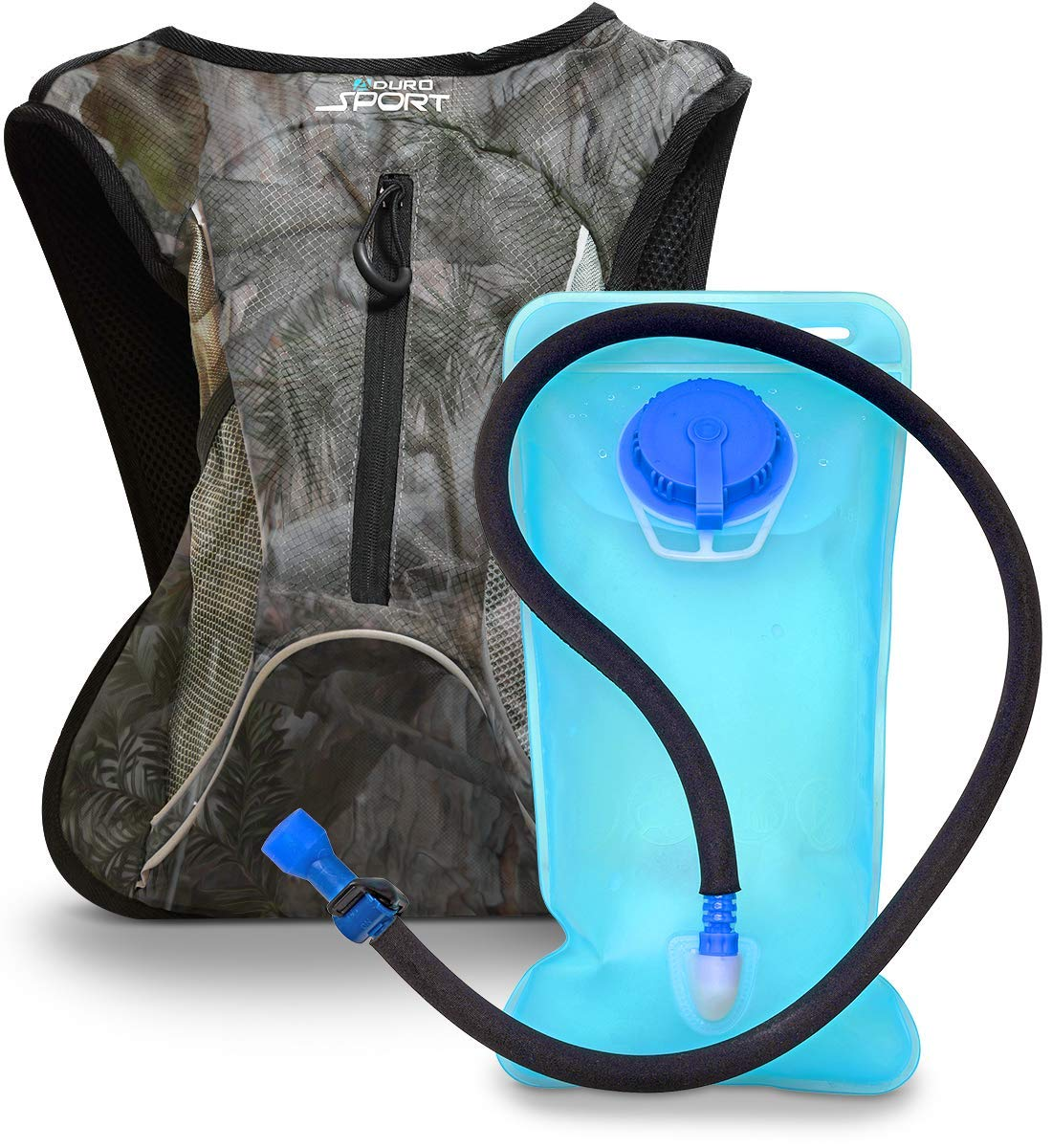 Aduro Sport Hydration Backpack Hydro-Pro , 1.5L 2L 3L BPA Free Water Bladder, Unisex, Water Resistant, Durable, Light Weight, Adjustable Sizing