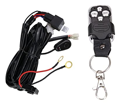 Amazon.com: Wiring Harness for LED Light Bar with Remote Control by on