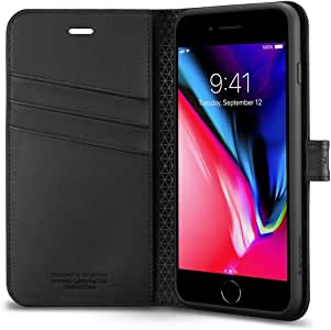Spigen Wallet S Designed for Apple iPhone 8 Plus Case (2017) - Black