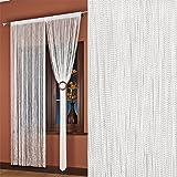 AeMBe - Stringa Di Filo Tenda Porta - 150cm x 250 centimetri - Bianco Perla - Più Alta Qualità