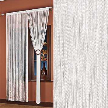 AeMBe - String Rideau Fil Porte De Rideau - 150cm X 250cm - Blanc ...