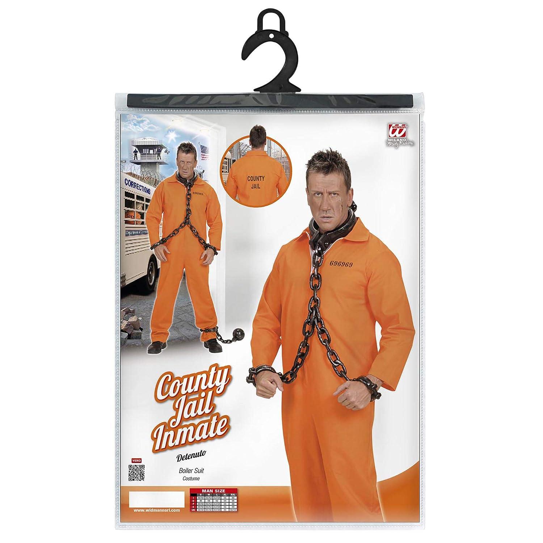 WIDMANN ? County Jail Inmate disfraz de Detenuto, de talla XL ...