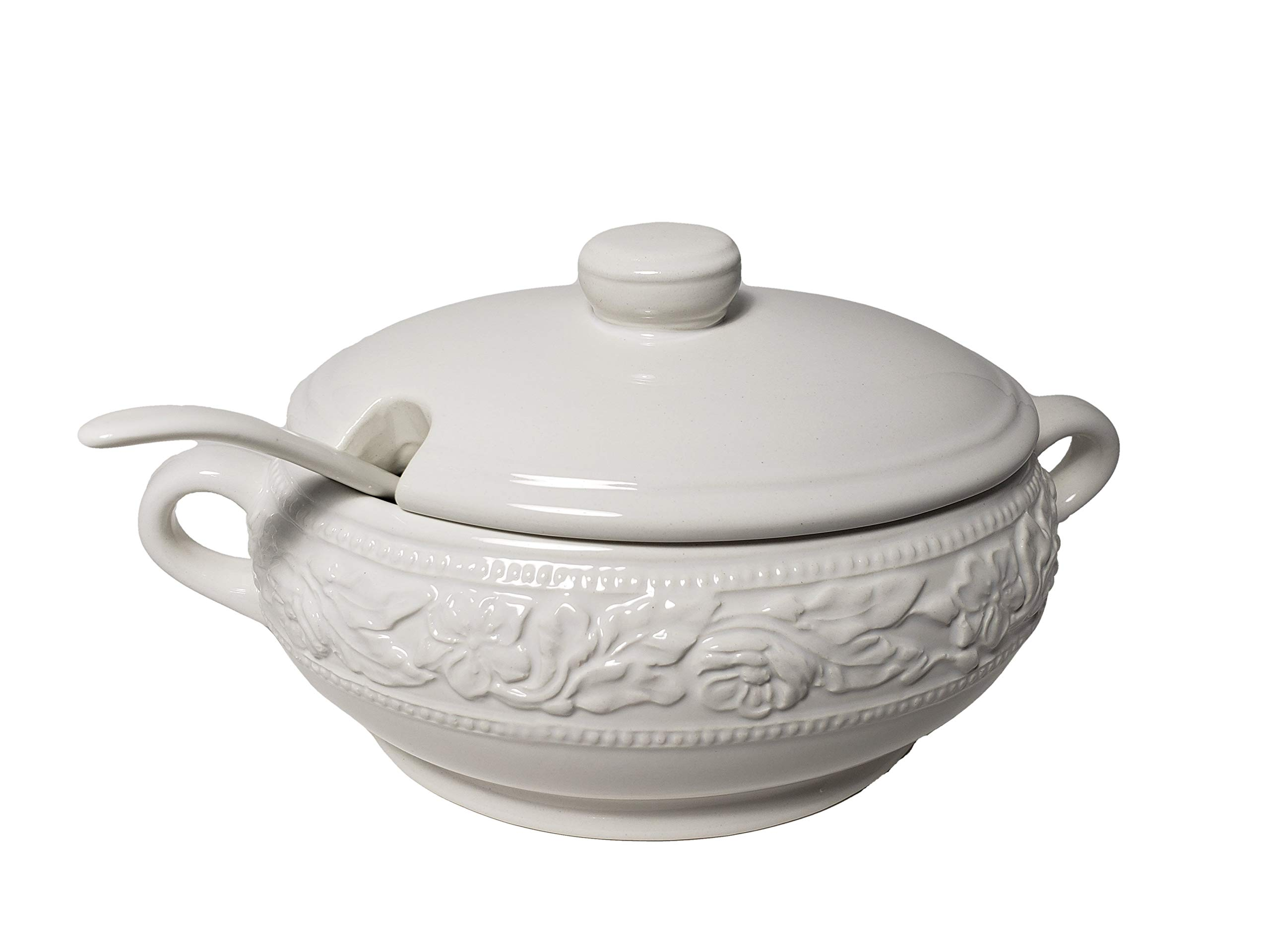 Dolomite Soup Tureen with Ladle 67.6 oz by Regent
