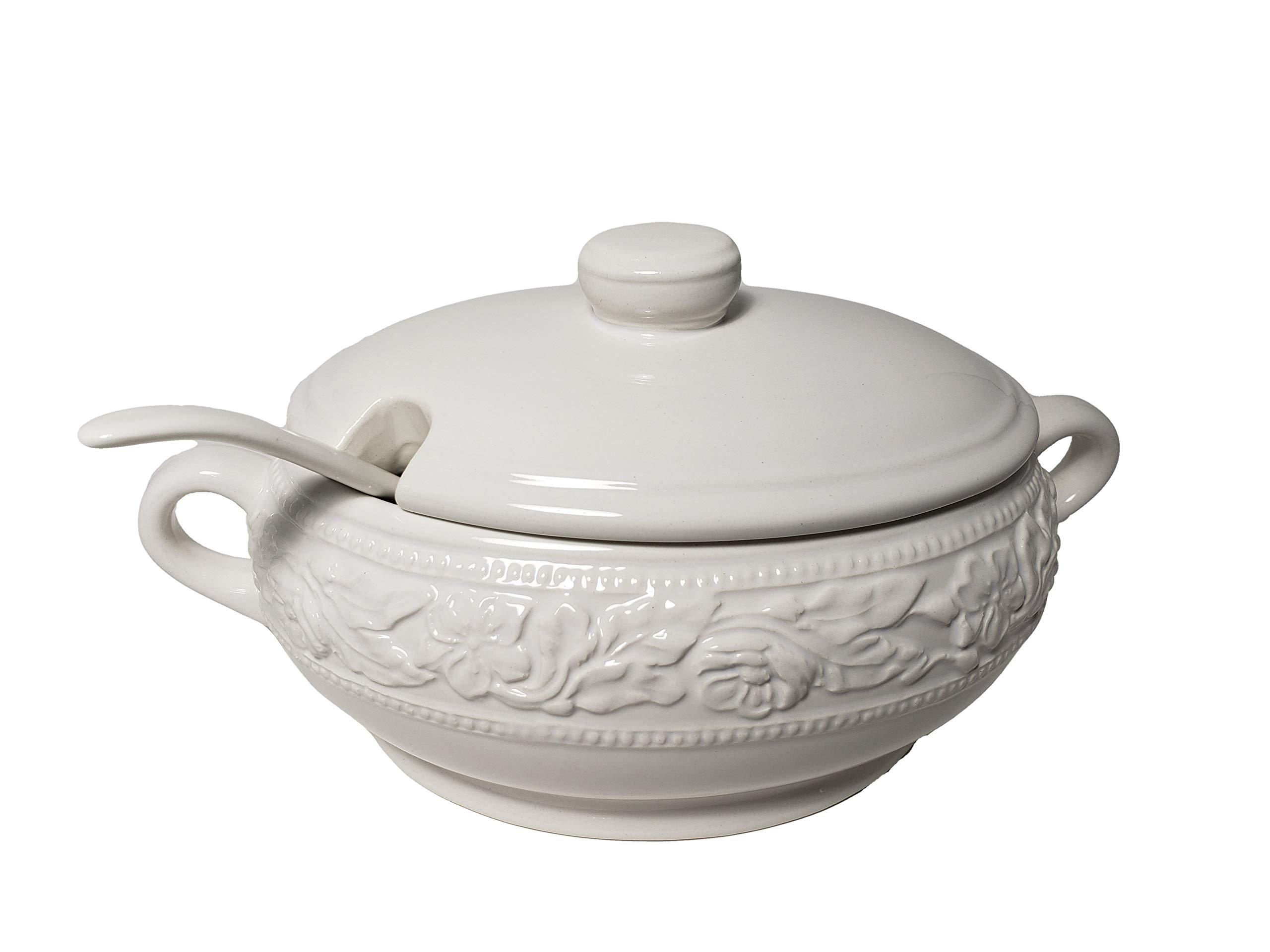 Dolomite Soup Tureen with Ladle 67.6 oz