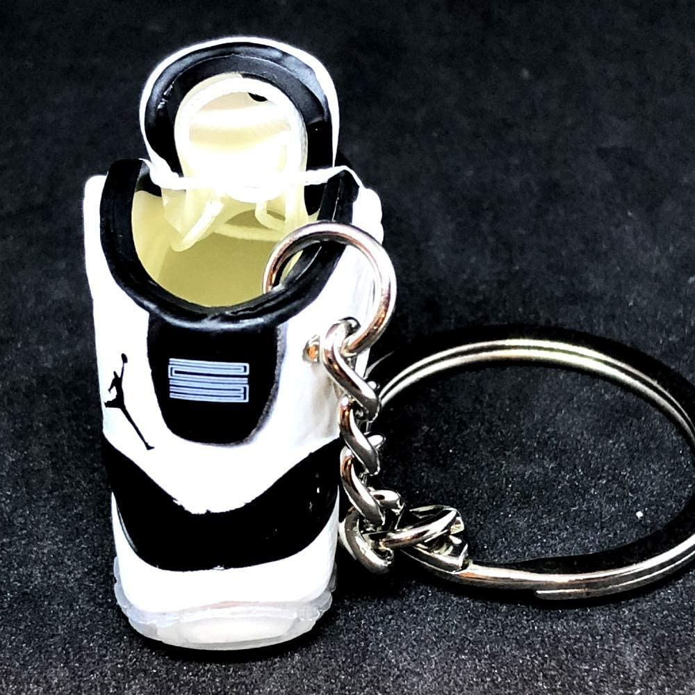 Air Jordan XI 11 High Retro Concord Black White Sneakers Shoes 3D Keychain 1:6 Figure