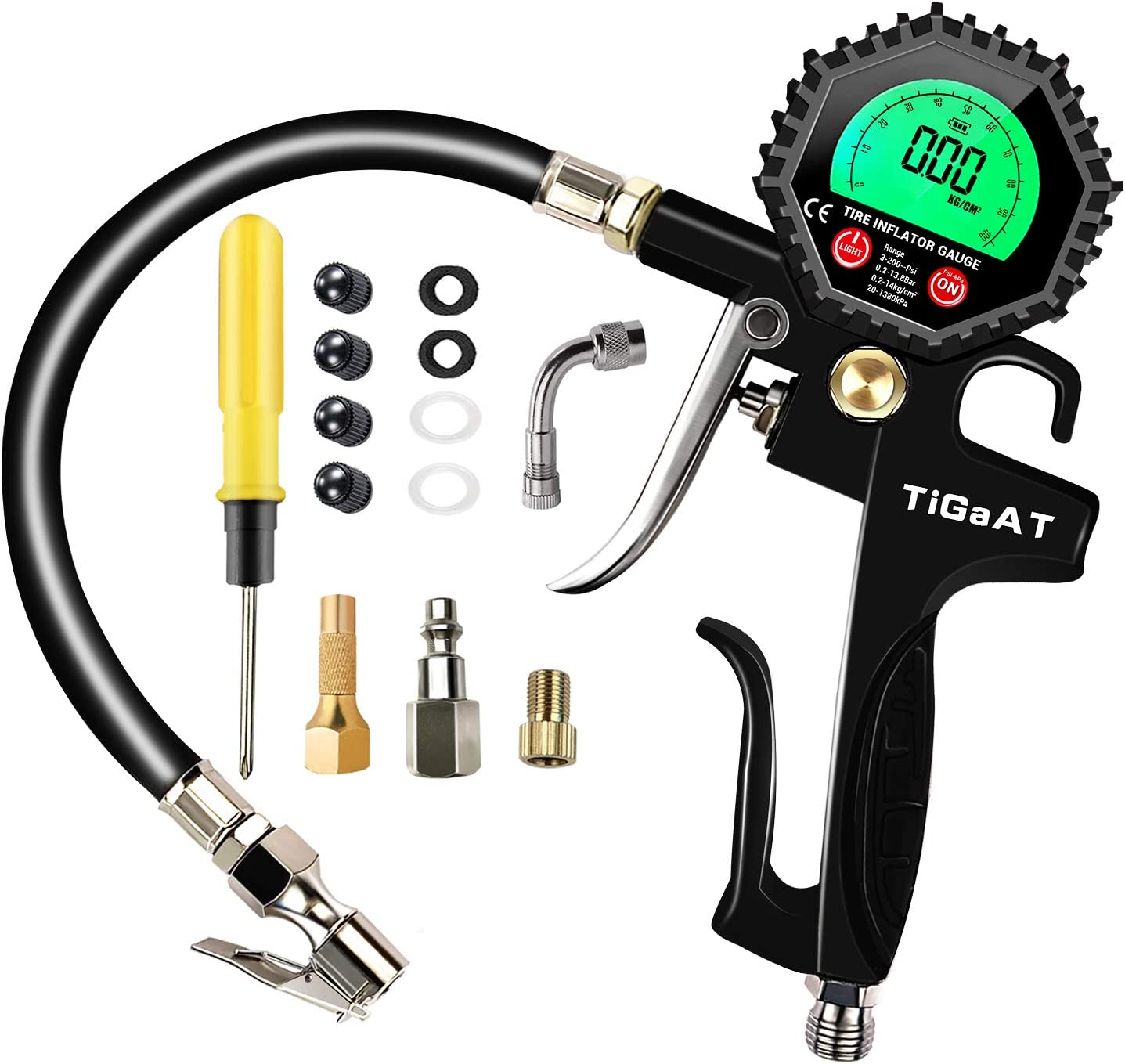TiGaAT Digital Tire Pressure Gauge
