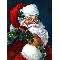 Yeerum 5D Christmas Diamant Schilderij Kerstman Kit, Kerstmis DIY Diamant Painting Art Kit Kruissteek Strass Kit…