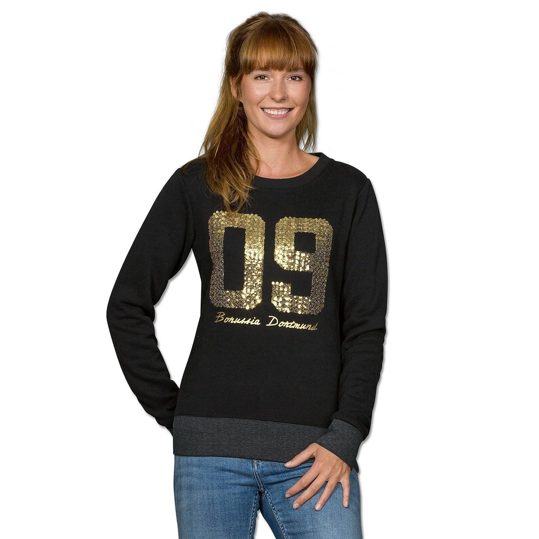 Borussia Dortmund 09-Sweatshirt mit Pailletten für Frauen (schwarz)