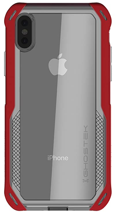 Ghostek Cloak Shockproof Hybrid Phone Case Cover Compatible With I Phone Xs X   Red by Ghostek