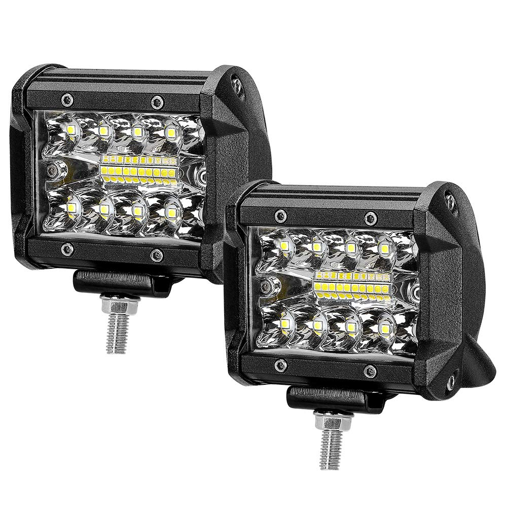 "Faro da Lavoro 4"" 60W 6000LM 6000K LED Luci Off Road Spot Flood Combo Beam Impermeabile IP67 per Camion SUV UTV ATV Off Road Moto(2PCS) ZREE"