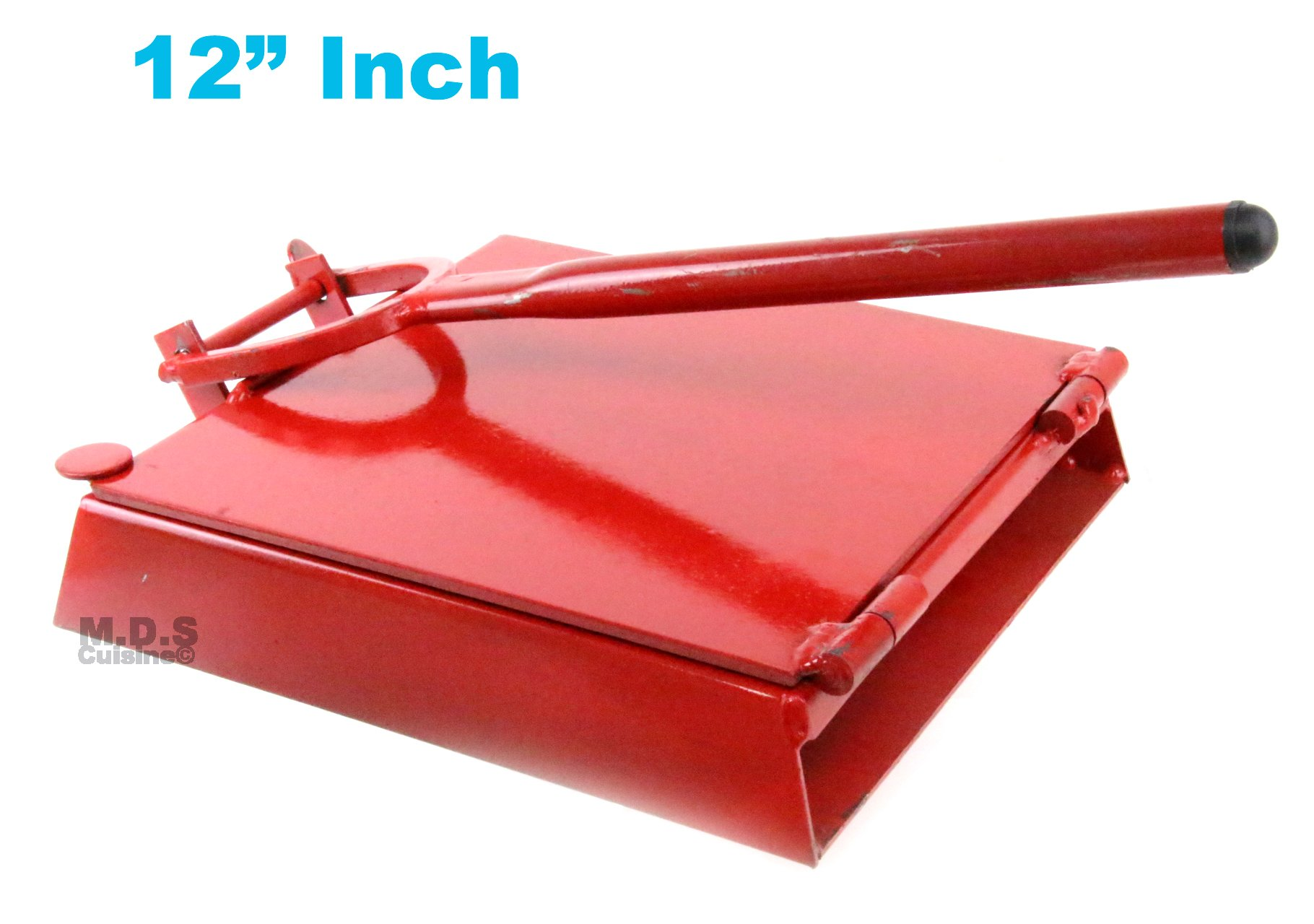 "Tortilla Press 12"" Red Heavy Duty Iron Restaurant Commercial Authentic Mexican Tortillas"
