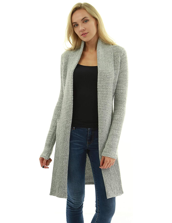 a92cb9cf613 PattyBoutik Women Open Front Pocket Marled Knit Cardigan at Amazon Women s  Clothing store