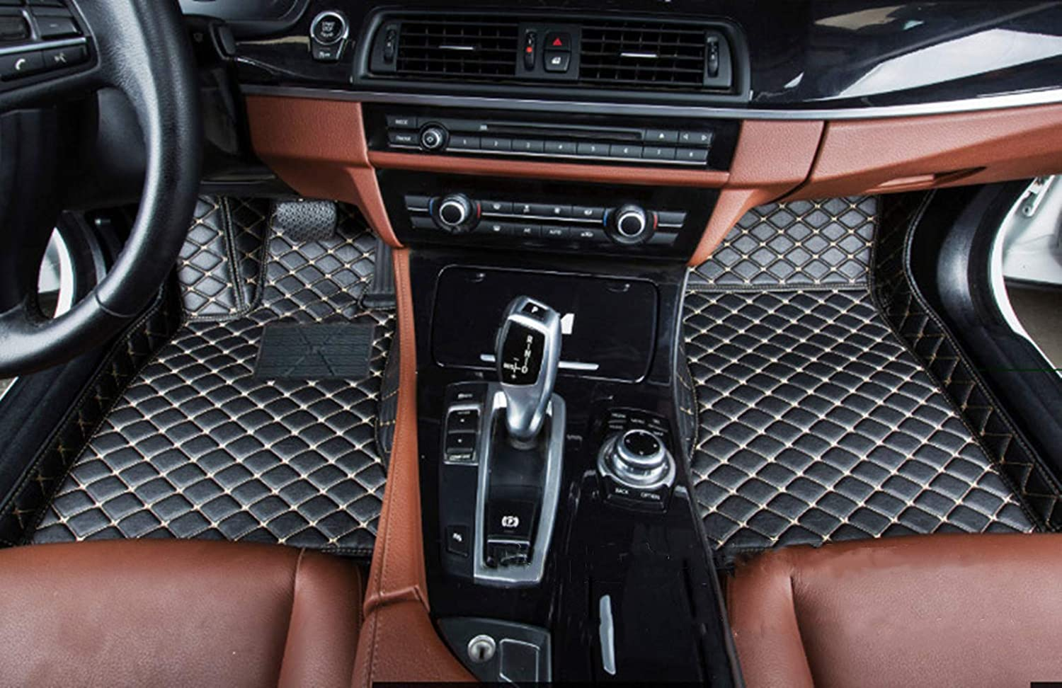 for Mercedes-Benz GLE 15-19 300 320 350d 400 500 4Matic Floor Mats Custom All Full Surrounded Cargo Liner All Weather Waterpoof Anti-Slip Left Driving Coffee Color