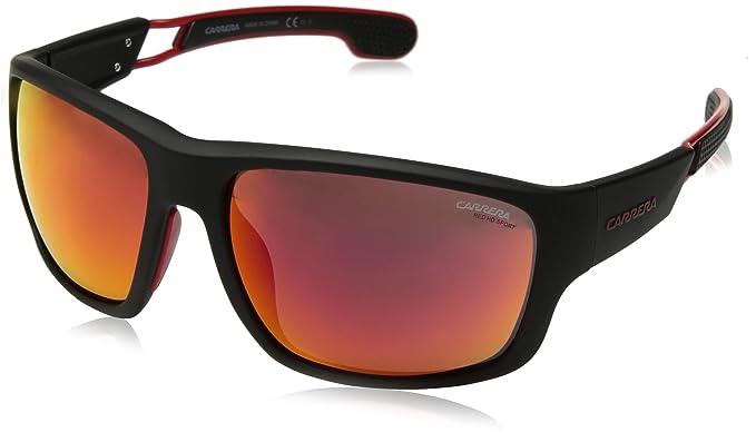 0eb4dbc1ab2c Amazon.com  Carrera Men s 4006 s Wrap Sunglasses MATTE BLACK 63 mm ...