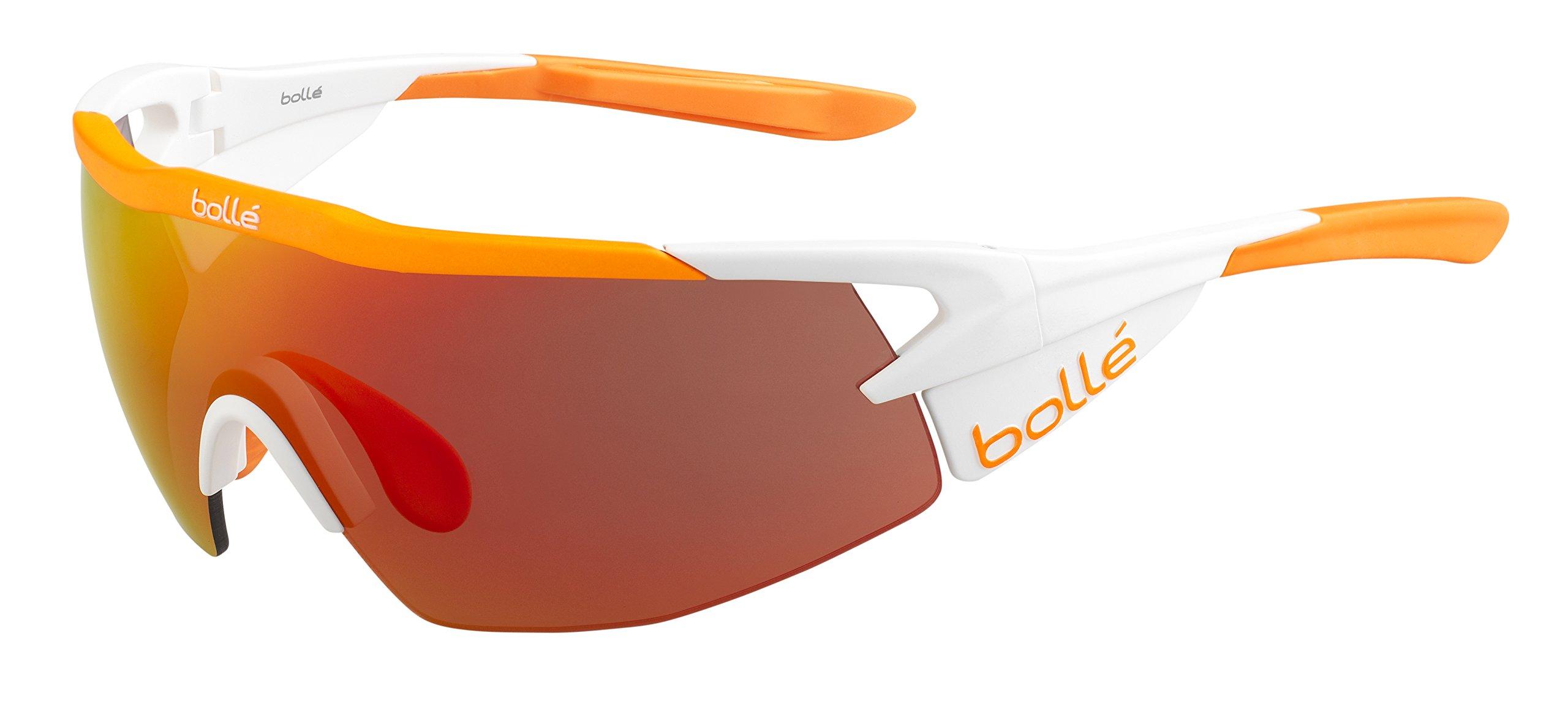 Bolle Aeromax Sunglasses Matte White/Orange, Multi by Bolle (Image #1)
