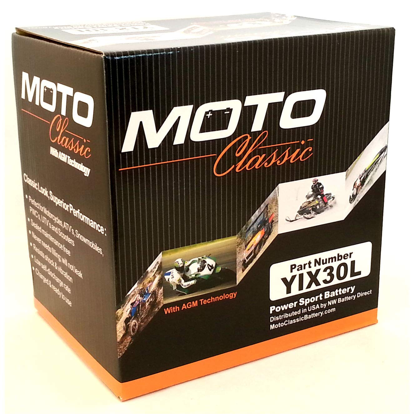 Moto Classic YIX30L 12V 34ah Sealed AGM 420CCA 30 Mo. Warranty ATV/Motorcycle Battery by Moto Classic (Image #1)