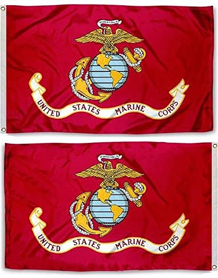 Embroidered Marine Corps Flag 3x5 Double Sided Ramson Imports of America U.S