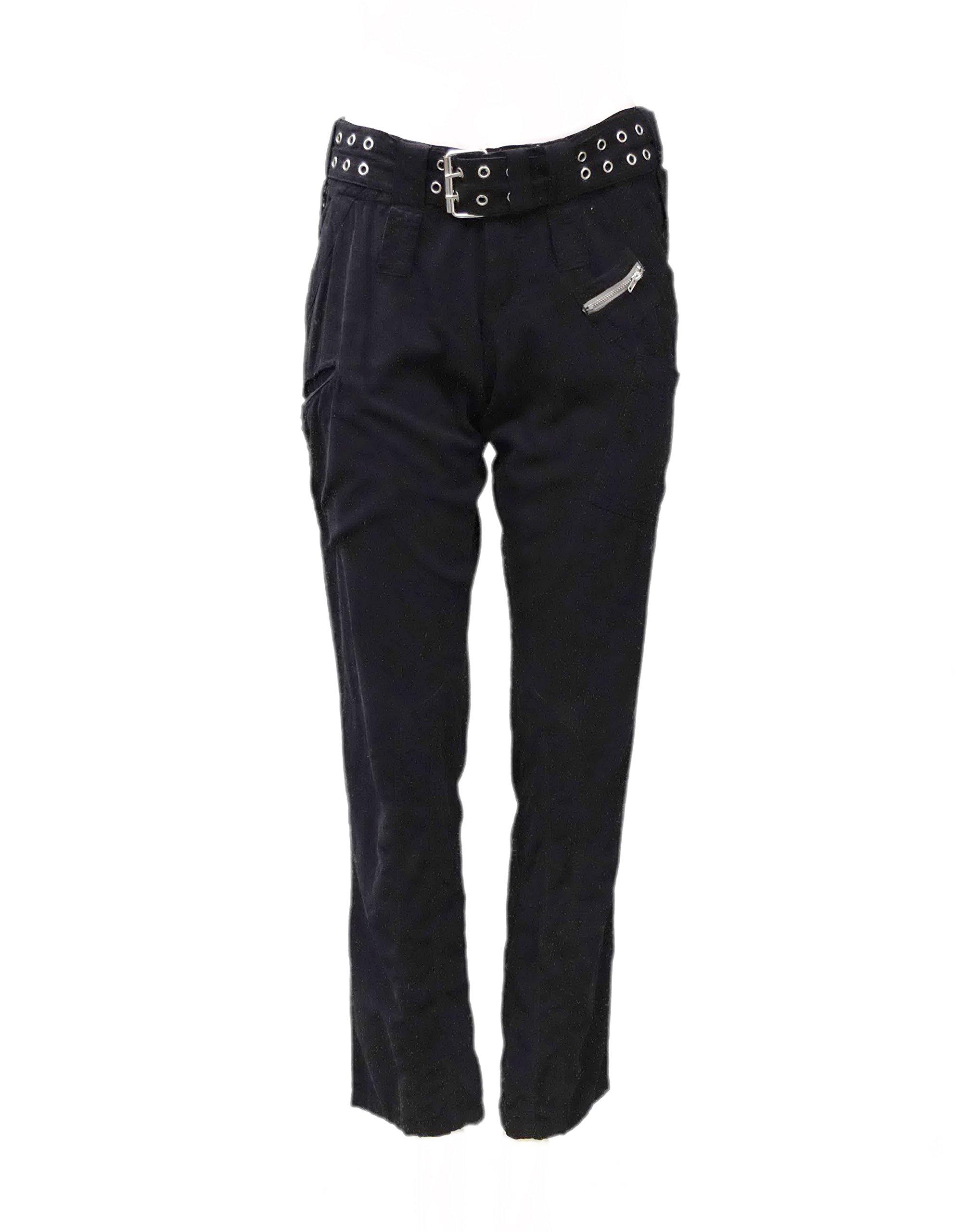 PETE & GRETTA Womens Soft Fine Corduroy Cargo Pocket Pants Sz 0 Black 100778E