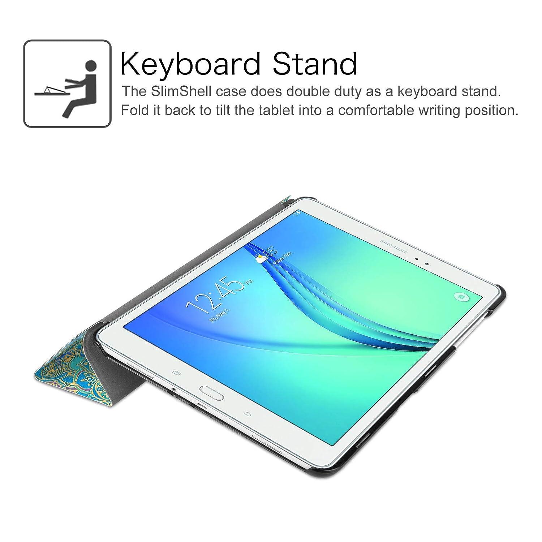 Ultra Sottile di Peso Leggero Tri-Fold Smart Case Cover Sleeve con Funzione Sleep//Wake per Samsung Galaxy Tab A 9.7 SM-T550 SM-T555 Tablet FINTIE Samsung Galaxy Tab A 9.7 Custodia Blu Scuro