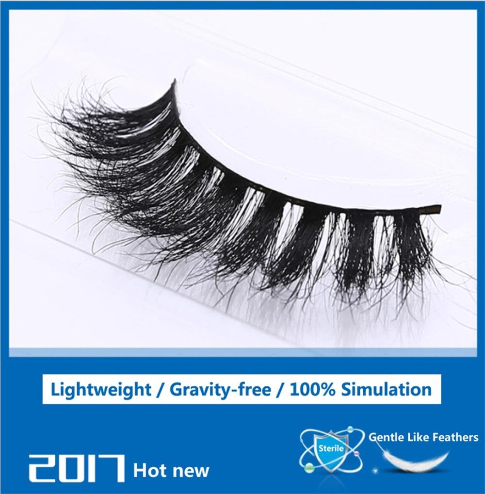 Un par de pestañ as falsas del pelo natural lleno 3D pestañ as hechas a mano maquillaje pestañ as largas naturales estupendas estilo suave ligero de la comodidad, MT005 CHX