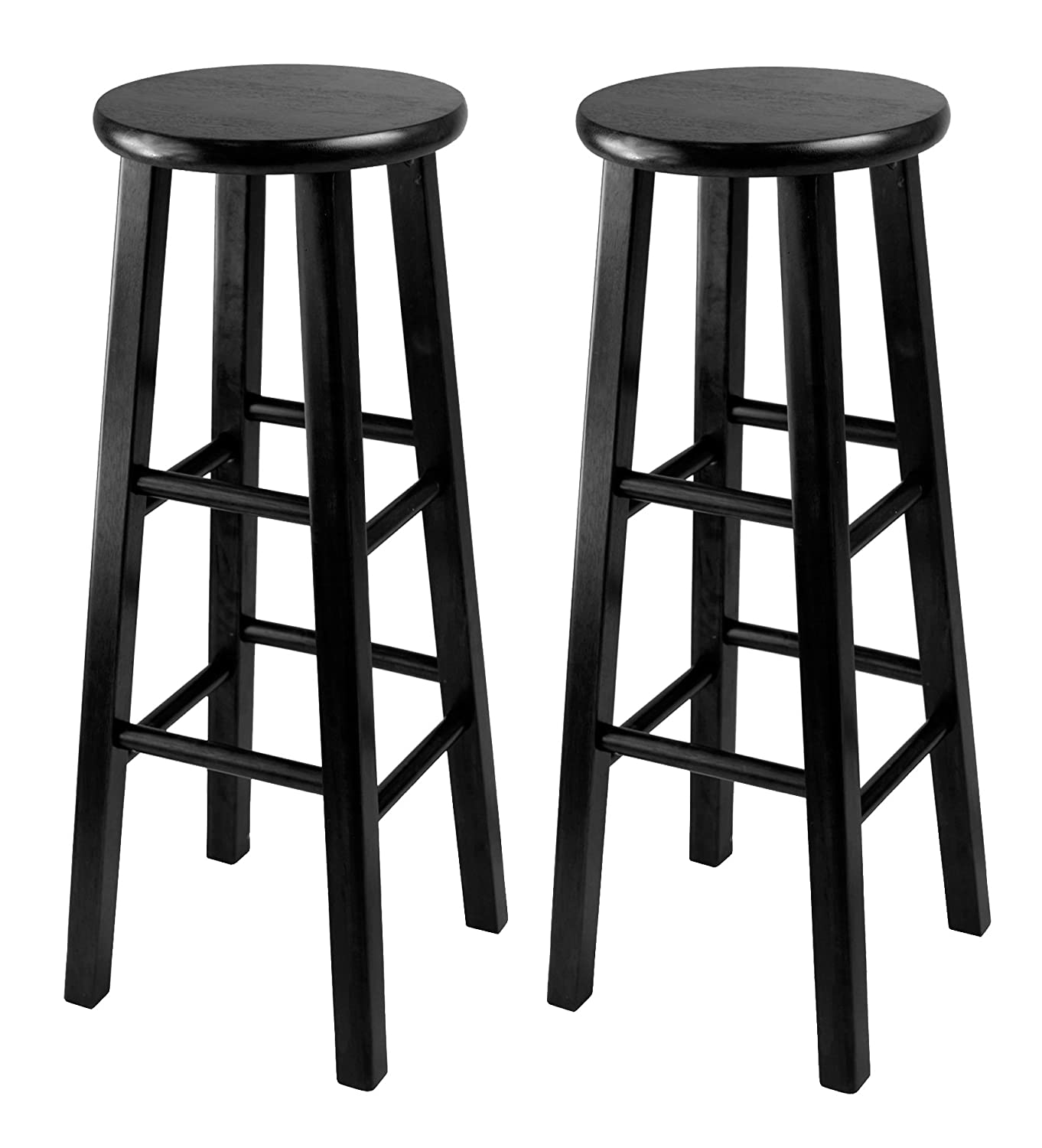 Winsome Black 29-Inch Square Leg Bar Stool