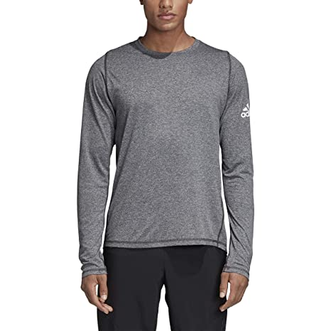 12a6b1076e Amazon.com: adidas Freelift Sport Heather Badge of Sport Long Sleeve ...