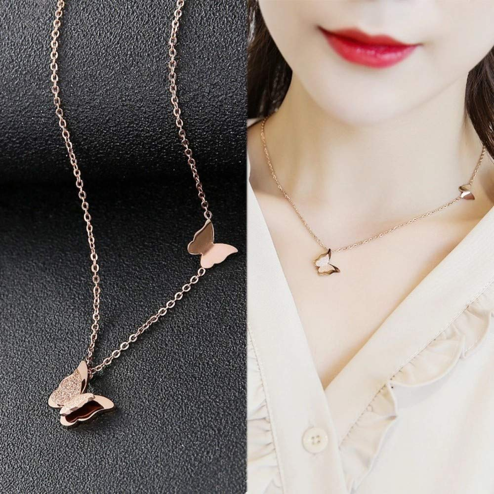 FGHOME Mothers Day Necklace Gift Necklace Gold Plated Women Fashion Jewelry Pendant Necklace Hypoallergenic Luxury Gift Box Short Clavicle Chain Joker Pendant Sterling Silver Exquisite