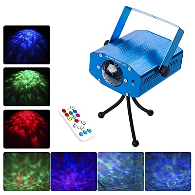 DuaFire Laser Lights, 7 Colors Led Stage Party Light Projector, Strobe Water Ripples Lighting for Wedding, Home Karaoke, Club, Bar, Disco and DJ: Musical Instruments