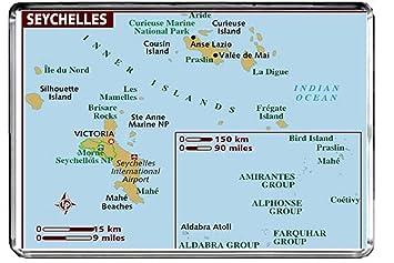 Karte Seychellen.Cfl M180 Karte Von Seychellen Kuhlschrankmagnet Seychellen