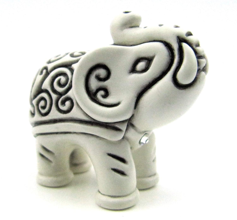 Amazon.de: Miniatur Elefanten-Figur, MADE WITH SWAROVSKI ELEMENTS ...