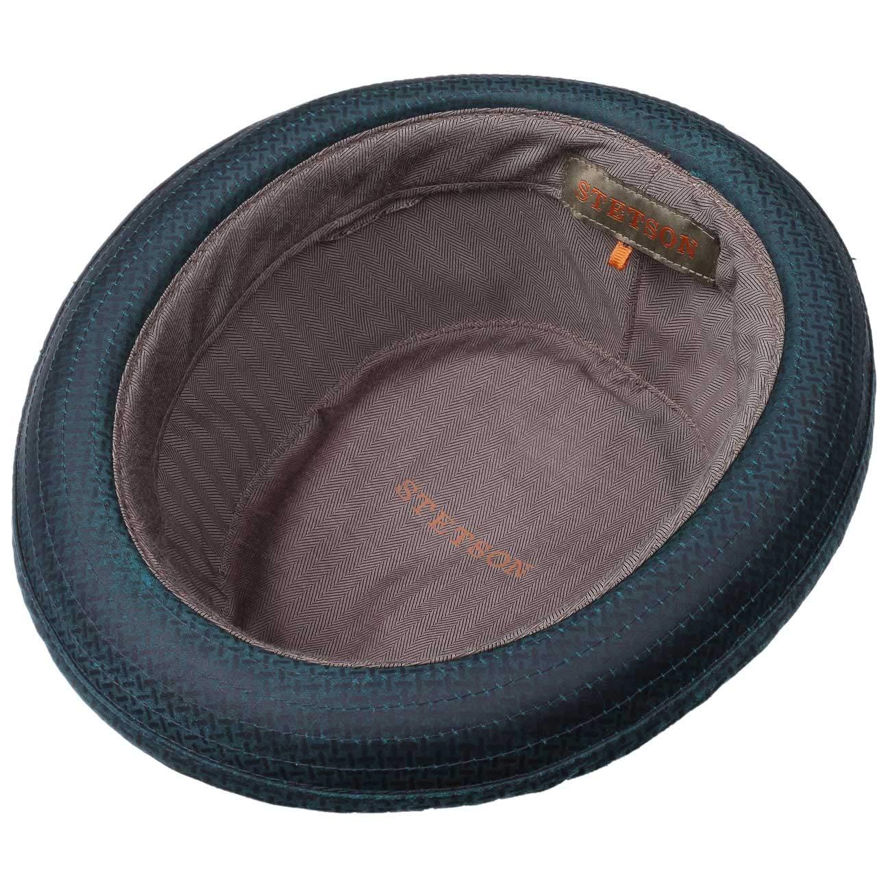 da Pork Pie Musicista con Fodera Stetson Cappello di Tessuto Embossed Odenton Uomo Fodera Estate//Inverno